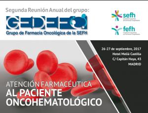 Reunión anual gedefo farmacia hospitalaria paciente oncohematologico