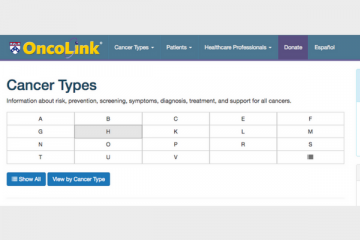 Oncolink: Cancer Types