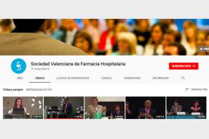 Canal de YouTube: Sociedad Valenciana de Farmacia Hospitalaria