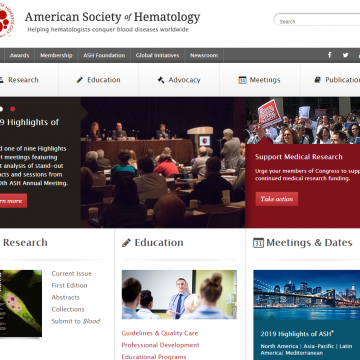 Web de la American Society of Hematology