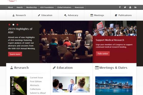 Web de la American Society of Hematology