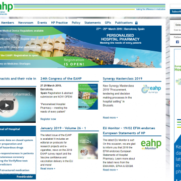 Web de la European Association of Hospital Pharmacists