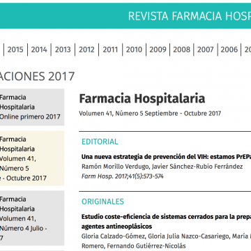 Revista de la Sociedad Española de Farmacia Hospitalaria