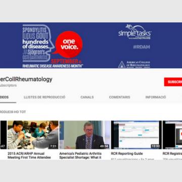 Canal de Youtube: AmerCollRheumatology
