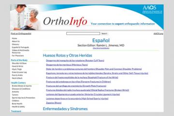 OrthoInfo: información para la artritis
