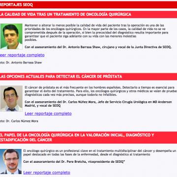 Reportajes de la Sociedad Española de Oncología Quirúrgica