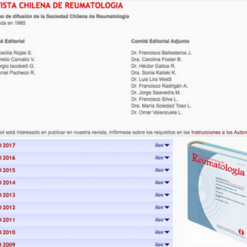 Revista Chilena de Reumatologia