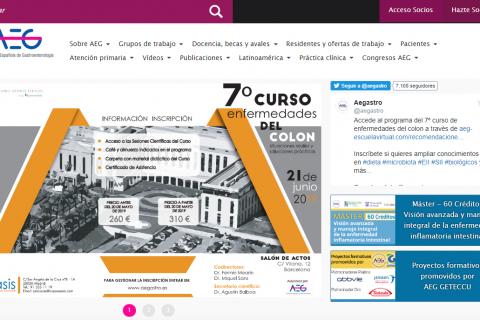 Web de la Asociación Española de Gastroenterología